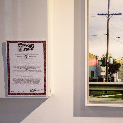 Rachel Bandit exposition Road art gallery