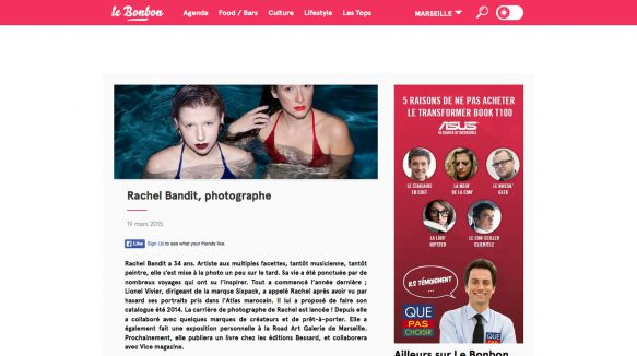 Rachel Bandit photographe interview Le Bonbon
