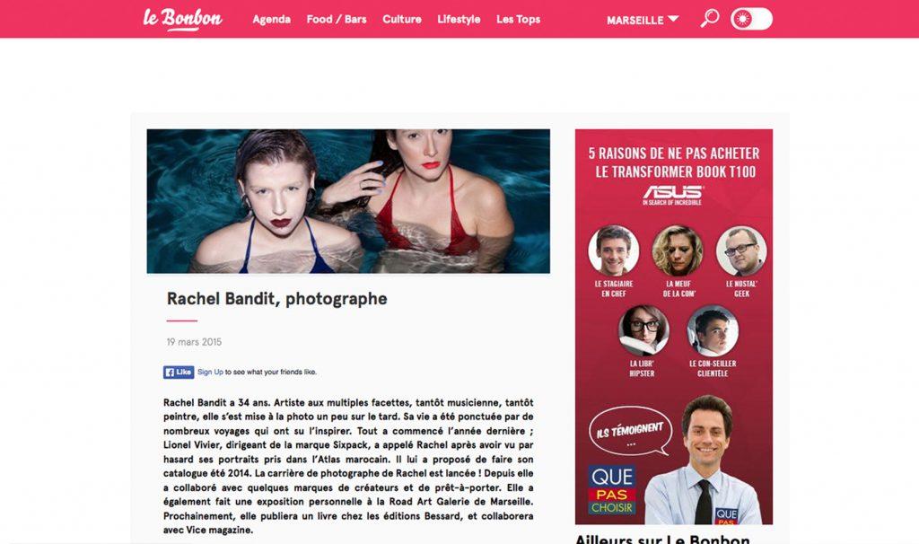 Rachel Bandit photographe interview Le Bonbon